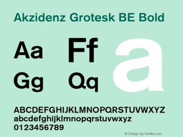 Akzidenz Grotesk BE Bold OTF 1.0;PS 001.001;Core 1.0.22 Font Sample