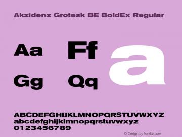Akzidenz Grotesk BE BoldEx Font,AkzidenzGroteskBE-BoldEx