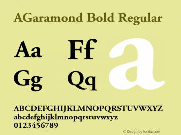 AGaramond Bold Font,AGaramond-Bold Font,Adobe Garamond Font