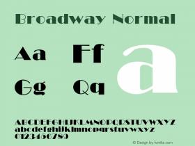 Broadway Normal 001.000 Font Sample