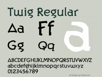 Twig Regular Version 001.000图片样张