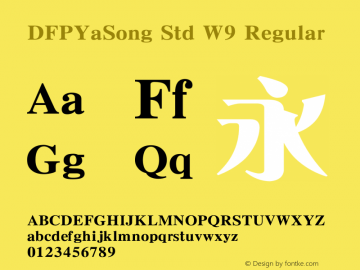 DFPYaSong Std W9 Regular Version 1.10图片样张