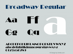 Broadway Regular Converted from U:\HOME\PEARCE\AT\TTFONTS\ST000011.TF1 by ALLTYPE Font Sample