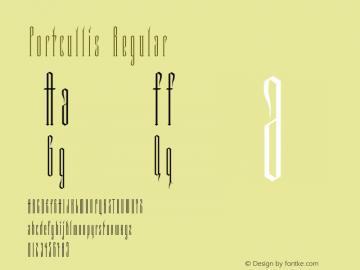Portcullis Regular Version 1.00图片样张