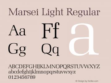 Marsei Light Regular 001.000 Font Sample
