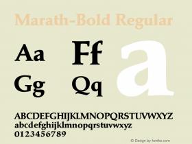 Marath-Bold Regular 001.001 Font Sample