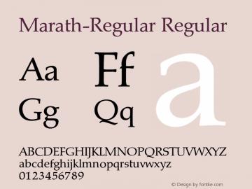 Marath-Regular Regular 001.001 Font Sample