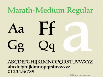 Marath-Medium Regular 001.001 Font Sample