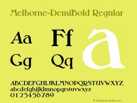 Melborne-DemiBold Regular 001.001 Font Sample
