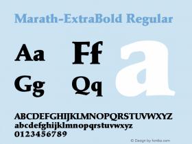 Marath-ExtraBold Regular 001.001 Font Sample