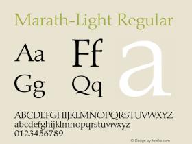 Marath-Light Regular 001.001 Font Sample