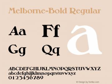 Melborne-Bold Regular 001.001 Font Sample