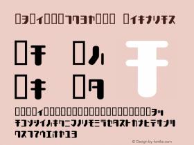 TYPEOUT2097KAT Regular Macromedia Fontographer 4.1.3 1998.03.17 Font Sample