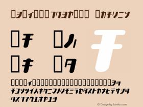 TYPEOUT2097KAT Italic Macromedia Fontographer 4.1.3 1998.03.17 Font Sample