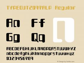 TYPEOUT2097ALP Regular 001.000 Font Sample