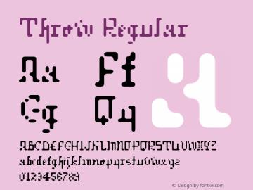 Throw Regular 001.000 Font Sample