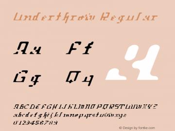 Underthrow Regular 001.000 Font Sample