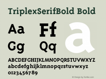 TriplexSerifBold Bold Version 001.000图片样张