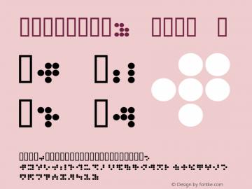 CIRCULAR9 KANA J Macromedia Fontographer 4.1.3 1998.03.17 Font Sample
