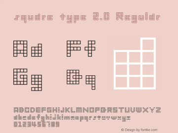 square type 2.0 Regular Macromedia Fontographer 4.1.3 1998.03.17 Font Sample