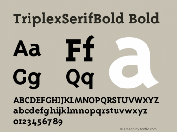 TriplexSerifBold Bold Version 001.001图片样张