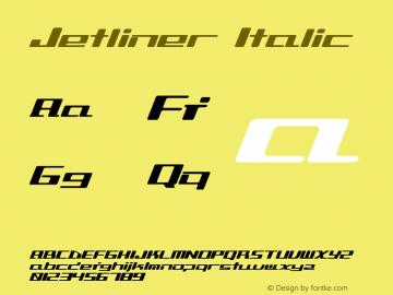 Jetliner Italic Altsys Fontographer 3.6-J 98.2.25 Font Sample