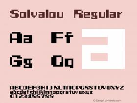 Solvalou Regular 001.000 Font Sample