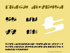 Dtron Regular Altsys Fontographer 3.6-J 98.2.26 Font Sample
