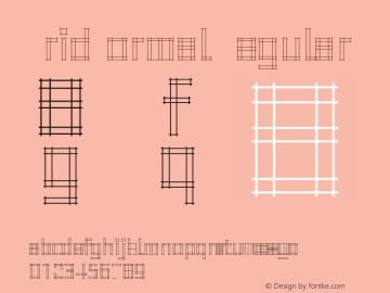 GridNormal Regular 001.001 Font Sample