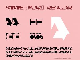 State (Plain) Regular 001.001 Font Sample