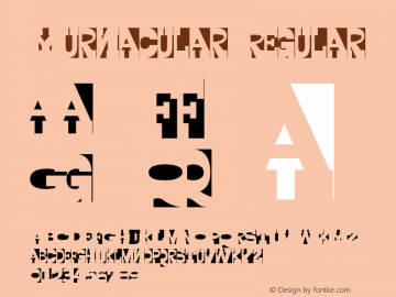 Yurnacular Regular Altsys Metamorphosis:4/15/92 Font Sample