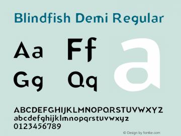 Blindfish Demi Regular 001.000 Font Sample