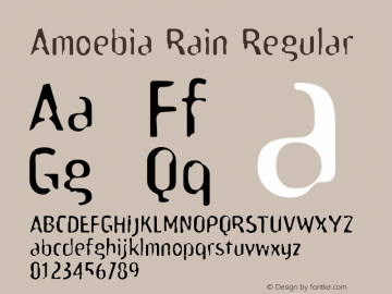 Amoebia Rain Regular 001.000 Font Sample