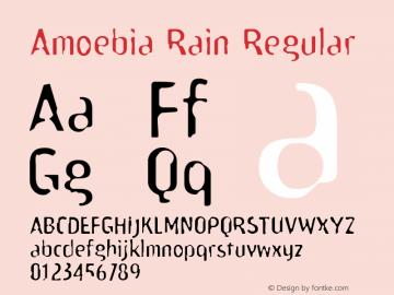 Amoebia Rain Regular Version 1.00 Font Sample