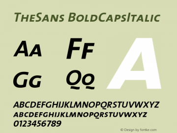 TheSans BoldCapsItalic Version 1.0 Font Sample