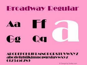 Broadway Regular Version 1.1 Font Sample
