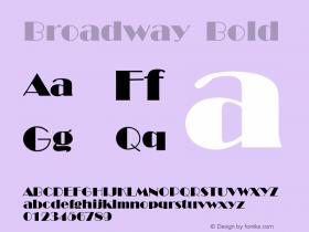 Broadway Bold 001.000 Font Sample