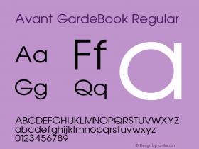 Avant GardeBook Regular 001.000 Font Sample