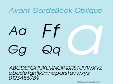 Avant GardeBook Oblique 001.000 Font Sample