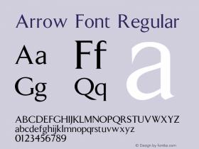 Arrow Font Regular 001.000 Font Sample