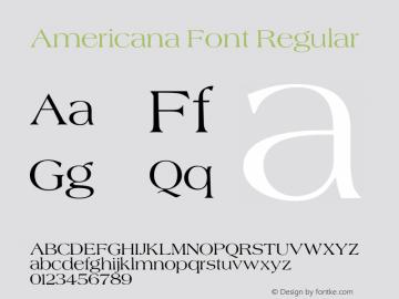 Americana Font Regular 001.000 Font Sample