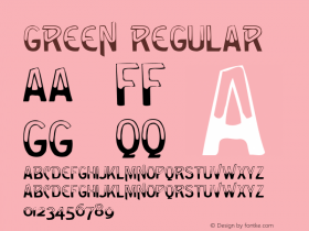 Green Regular Altsys Metamorphosis:4/10/92 Font Sample