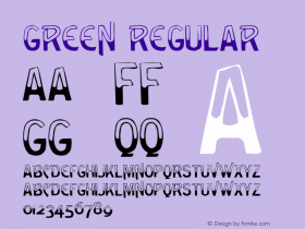 Green Regular Altsys Metamorphosis:3/6/92 Font Sample