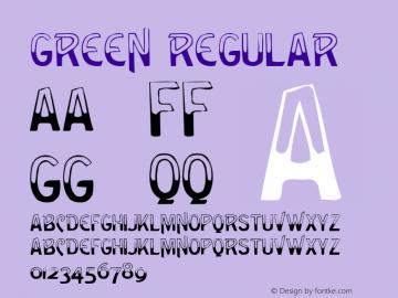 Green Regular Altsys Metamorphosis:3/6/92 Font Sample