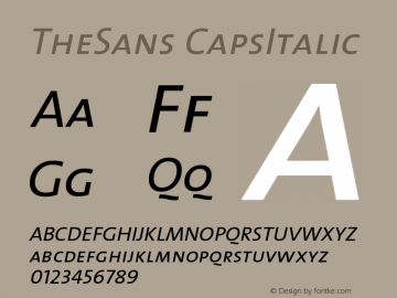TheSans CapsItalic Version 1.0 Font Sample