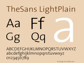 TheSans LightPlain Version 1.0 Font Sample