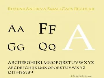RuzenaAntikva SmallCaps Regular 001.000图片样张