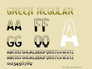 Green Regular Altsys Fontographer 3.5  8/1/92 Font Sample