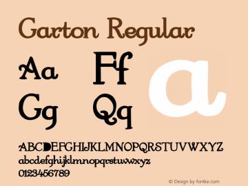 Garton Regular Altsys Metamorphosis:4/12/92 Font Sample