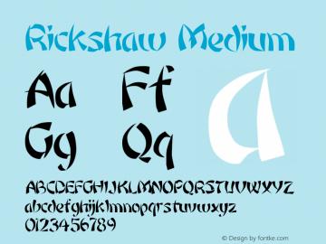 Rickshaw Medium Version 001.001 Font Sample